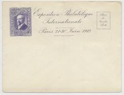 1913 - ENVELOPPE PSEUDO ENTIER De L'EXPOSITION PHILATELIQUE INTERNATIONALE De PARIS 1913 - Entiers Postaux