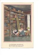 15179 - Raztreseni Profesor Will Halle  Berceau Et Bibliothèque (Format 10X15) - Humour