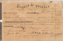 """E144 ESPAÑA SPAIN CUBA INSURANCE OF """"QUINTAS"""". PARA EVADIR SERVICIO MILITAR 1860 - Acciones & Títulos"""