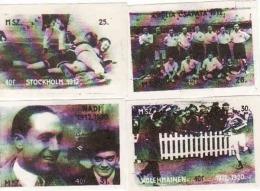Hungary - Matchbox Labels, Hongrie Olympiens Aux Jeux Olympiques Stockholm 1912 Et Anvers 1920 - Boites D'allumettes - Etiquettes