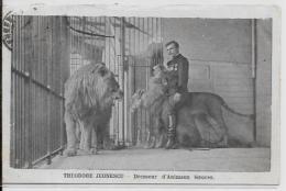 CPA Cirque Circus Cirk Dompteur Dresseur Fauves Lion Roumanie JEONESCU Circulé - Circo
