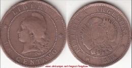 Argentina 1 Centavo 1884 KM#32 - Used - Argentina