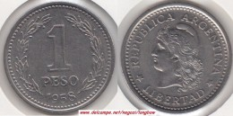Argentina 1 Peso 1958 KM#57 - Used - Argentina