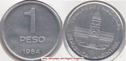 Argentina 1 Peso 1984 KM#91 - Used - Argentina