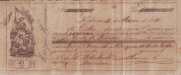 E344 CUBA SPAIN BANK BILL OF EXCHANGE 1880 MARZAN Hno ESPAÑA - Bills Of Exchange