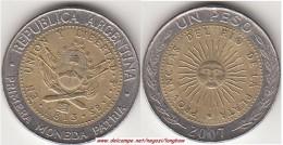 Argentina 1 Peso 2007 KM#112.1 - Used - Argentina