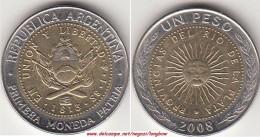 Argentina 1 Peso 2008 KM#112.1 - Used - Argentina
