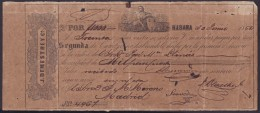 E345 CUBA SPAIN BANK BILL OF EXCHANGE 1860 J. DEMESTRE ESPAÑA - Bills Of Exchange
