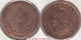 Argentina 2 Centavos 1890 KM#33 - Used - Argentina