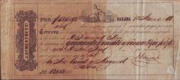 E349 CUBA SPAIN BANK BILL OF EXCHANGE 1866 J. DEMESTRE  ESPAÑA - Bills Of Exchange
