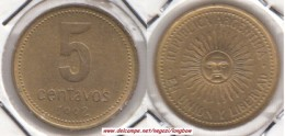 Argentina 5 Centavos 1992 KM#109 -used - Argentina
