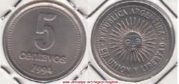 Argentina 5 Centavos 1994 KM#109a.2 - Used - Argentina
