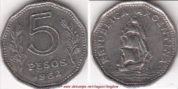 Argentina 5 Pesos 1962 KM#59 - Used - Argentina