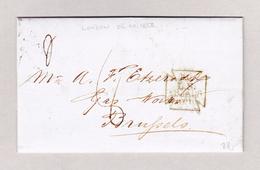 GB London 25.1.1856 Brief Ohne Marke Nach Bruxelles Mit Ankunft Und Transit Stempel - 1840-1901 (Victoria)