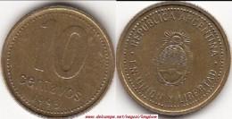 Argentina 10 Centavos 1993 KM#107 - Used - Argentina