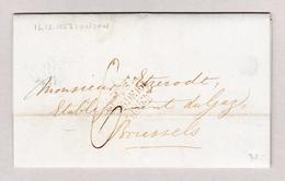 GB London 16.12.1853 Brief Ohne Marke Nach Bruxelles Mit Ankunft Und Transit Stempel - 1840-1901 (Victoria)