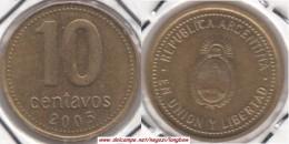 Argentina 10 Centavos 2005 KM#107 - Used - Argentina