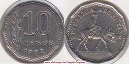 Argentina 10 Pesos 1962 KM#60 - Used - Argentina
