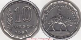 Argentina 10 Pesos 1963 KM#60 - Used - Argentina