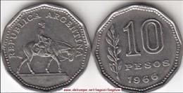 Argentina 10 Pesos 1966 KM#60 - Used - Argentina