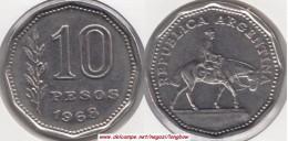 Argentina 10 Pesos 1968 KM#60 - Used - Argentina