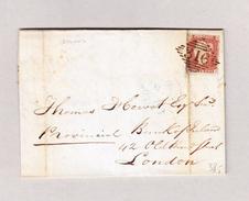 Irland LURGAN 8.4.1846 Brief Mit 1Penny Rot Ungezähnt #316 Nach London - Irlande
