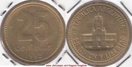 Argentina 25 Centavos 1992 KM#110.1 - Used - Argentina