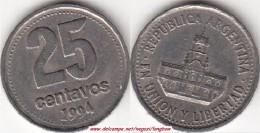 Argentina 25 Centavos 1994 KM#110.a - Used - Argentina