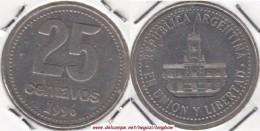 Argentina 25 Centavos 1996 KM#110a - Used - Argentina