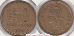 Argentina 50 Centavos 1970 KM#68 - Used - Argentina