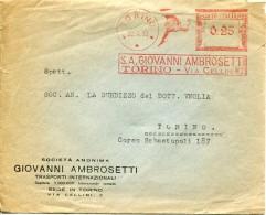 9742 Italia,  Red Meter  Freistempel  EMA  1933 Torino S.a. Giovanni Ambrosetti,    Circuled Cover - Affrancature Meccaniche Rosse (EMA)