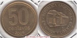 Argentina 50 Centavos 2009 KM#111.1 - Used - Argentina