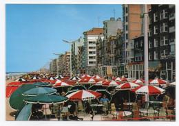 Belgique--DE PANNE--1996--Promenade (animée,Pub  Bière Tuborg ),cpm  éd Cromo--carte Espagnole - De Panne