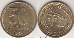 Argentina 50 Centavos 2009 (Bold Lettering) KM#111.2 - Used - Argentina