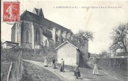 SEINE ET MARNE - 77 - RAMPILLON - Abside De L'Eglise Et Rue De L'Orme Du Bois - Animation - Autres Communes