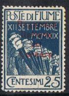 Fiume SG154 1920 Definitive 25c Mounted Mint - 9. WW II Occupation (Italian)