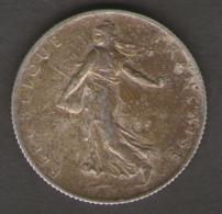 FRANCIA 2 FRANCS 1915 AG SILVER - Francia
