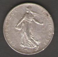 FRANCIA 2 FRANCS 1917 AG SILVER - Francia
