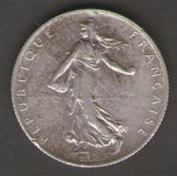 FRANCIA 2 FRANCS 1919 AG SILVER - Francia
