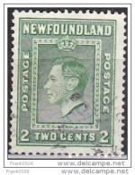Canada - Newfoundland, 1938, King George VI, 2c, Used - 1908-1947