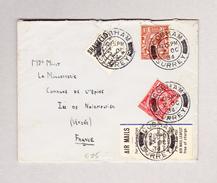 GB - COBHAM 2.10.1934 Brief Zur Insel Noimoutier Frankreich - Lettres & Documents