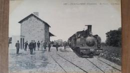 Plougasnou. La Gare. Tramway à Vapeur, Chemin De Fer Secondaire. ND N ° 1452. Rare En Premier Tirage - Plougasnou