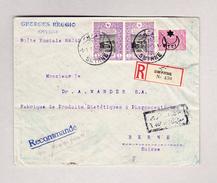 Turkei SMYRNE 7.1.1918 R-Ganzsachen Brief Mit Zusatzfrankatur Nach Bern - 1858-1921 Empire Ottoman