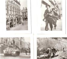 PHOTO 1944 LIBERATION ARRAS  NORD SOLDATS ANGLAIS TANK PAS DE CALAIS - 1939-45