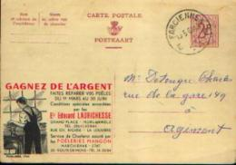 Carte Postale PUBLIBEL 1741 : Ets LAURICHESSE à MORLANWELZ Et LA LOUVIERE - Belle Oblitération De FARCIENNES - Entiers Postaux