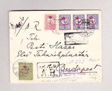 Türkei GALATA 16.11.1913 Zensur R-Brief Mit A.R. Nach Budapest - 1858-1921 Empire Ottoman