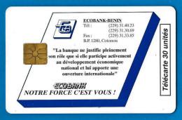 Ecobank , 30U , 10000 Ex. - Benin