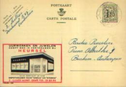 Carte Postale PUBLIBEL 1209 : UURWERKEN EN JUWELEN HEURSEL à GENT - Publibels