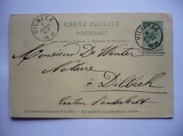 BELGIQUE - CARTE-POSTALE  AVEC ENTIER POSTAL De  VILVORDE 1898  Pour DILBEEK - Entiers Postaux