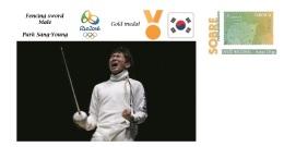 Spain 2016 - Olympic Games Rio 2016 - Gold Medal Fencing Sword Male South Korea Cover - Juegos Olímpicos